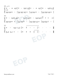 Farewell-Melody Of The Night-Numbered-Musical-Notation-Preview-3