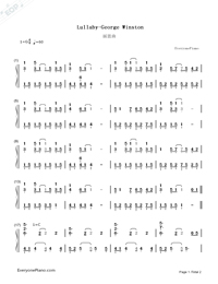 Lullaby-George Winston-Numbered-Musical-Notation-Preview-1