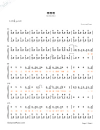 HeyHeyHey-The Village of No Return theme-Numbered-Musical-Notation-Preview-1