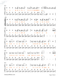 HeyHeyHey-The Village of No Return theme-Numbered-Musical-Notation-Preview-2