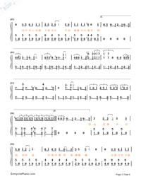 HeyHeyHey-The Village of No Return theme-Numbered-Musical-Notation-Preview-3