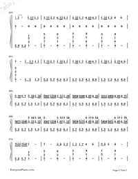 Canon Love The World-Johann Pachelbel-Numbered-Musical-Notation-Preview-4