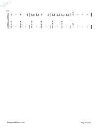 Canon Love The World-Johann Pachelbel-Numbered-Musical-Notation-Preview-5