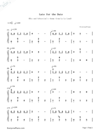 Late For The Date-La La Land-Mia & Sebastian's Theme-Numbered-Musical-Notation-Preview-1