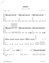 ZenZenZense-Difficult Version-Your Name theme-Numbered-Musical-Notation-Preview-1