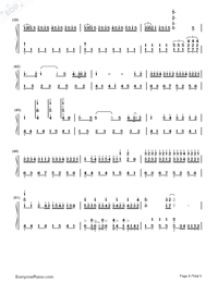 ZenZenZense-Difficult Version-Your Name theme-Numbered-Musical-Notation-Preview-4