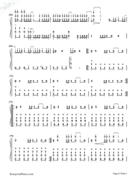 ZenZenZense-Difficult Version-Your Name theme-Numbered-Musical-Notation-Preview-6