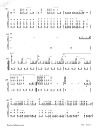 ZenZenZense-Difficult Version-Your Name theme-Numbered-Musical-Notation-Preview-7