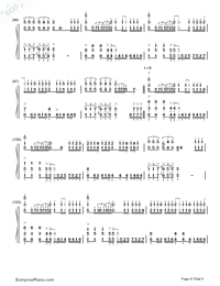ZenZenZense-Difficult Version-Your Name theme-Numbered-Musical-Notation-Preview-8