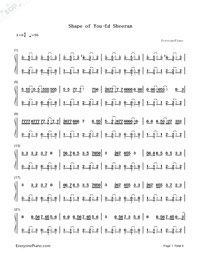 Shape of You-Ed Sheeran-Numbered-Musical-Notation-Preview-1