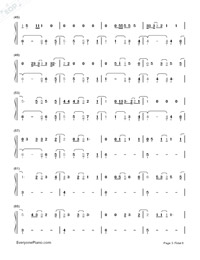 Castle On The Hill-Ed Sheeran-Numbered-Musical-Notation-Preview-3