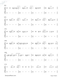 Castle On The Hill-Ed Sheeran-Numbered-Musical-Notation-Preview-5