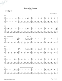Mountain Stream-Bandari Numbered Musical Notation Preview 1