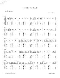 Touch-Little Mix-Numbered-Musical-Notation-Preview-1