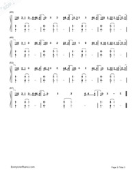 Touch-Little Mix-Numbered-Musical-Notation-Preview-3