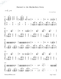 Chained to the Rhythm-Katy Perry-Numbered-Musical-Notation-Preview-1