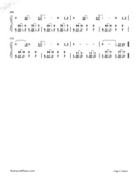 Chained to the Rhythm-Katy Perry Numbered Musical Notation Preview 4