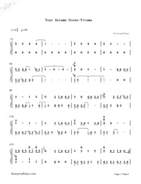 Your Autumn Scene-Yiruma-Numbered-Musical-Notation-Preview-1