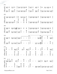 Samidare Koi Uta-Hatsune Miku-Numbered-Musical-Notation-Preview-2