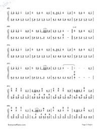 Samidare Koi Uta-Hatsune Miku-Numbered-Musical-Notation-Preview-3