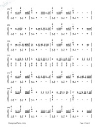 How Would You Feel (Paean)-Ed Sheeran Numbered Musical Notation Preview 2