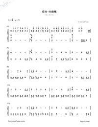 As It Is-A Touch of Green OP-Numbered-Musical-Notation-Preview-1
