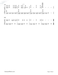 As It Is-A Touch of Green OP-Numbered-Musical-Notation-Preview-3