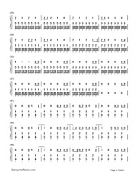 TOKYO GIRL-Tokyo Tarareba Musume theme-Numbered-Musical-Notation-Preview-2