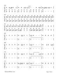 TOKYO GIRL-Tokyo Tarareba Musume theme-Numbered-Musical-Notation-Preview-3