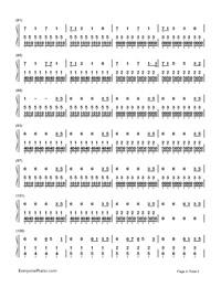TOKYO GIRL-Tokyo Tarareba Musume theme-Numbered-Musical-Notation-Preview-4