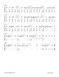 TOKYO GIRL-Tokyo Tarareba Musume theme-Numbered-Musical-Notation-Preview-5