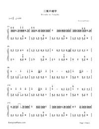 三葉の通學-《你的名字》插曲雙手簡譜預覽1