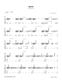 Goshintai-Your Name OST-Numbered-Musical-Notation-Preview-1