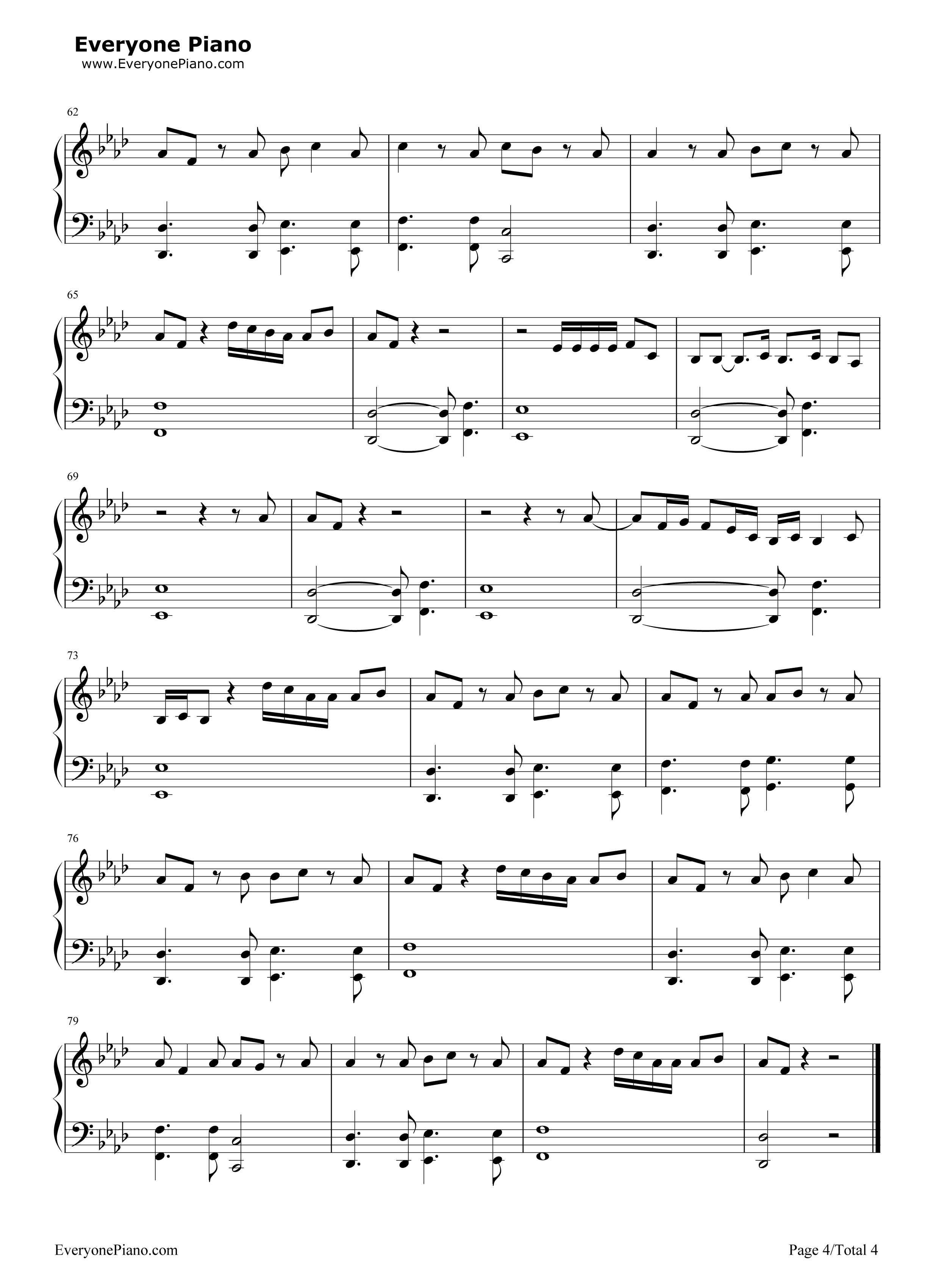Stay zeddalessia cara stave preview 4 free piano sheet music listen now print sheet stay zeddalessia cara stave preview 4 hexwebz Image collections
