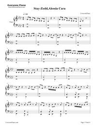 Stay-Zedd,Alessia Cara Free Piano Sheet Music & Piano Chords