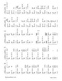 Badenweiler Marsch-German military march-Numbered-Musical-Notation-Preview-4