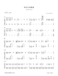 Bad Weather-Stefanie Sun-Numbered-Musical-Notation-Preview-1
