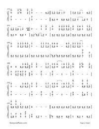 Ashitaka Sekki-Princess Mononoke-Numbered-Musical-Notation-Preview-2