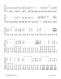Ashitaka Sekki-Princess Mononoke-Numbered-Musical-Notation-Preview-3
