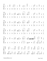 Believe In Yourself-Baby Steps OP Numbered Musical Notation Preview 2
