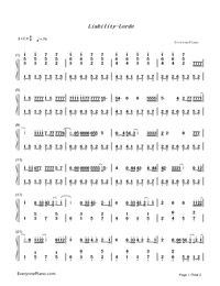 Liability-Lorde Numbered Musical Notation Preview 1