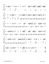 Liability-Lorde Numbered Musical Notation Preview 2