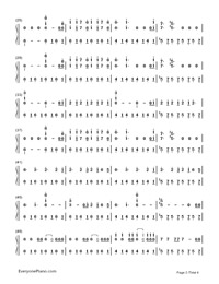 Believer-Imagine Dragons-Numbered-Musical-Notation-Preview-2
