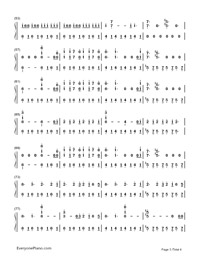 Believer-Imagine Dragons-Numbered-Musical-Notation-Preview-3