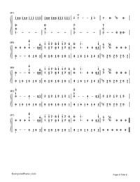 Believer-Imagine Dragons-Numbered-Musical-Notation-Preview-4