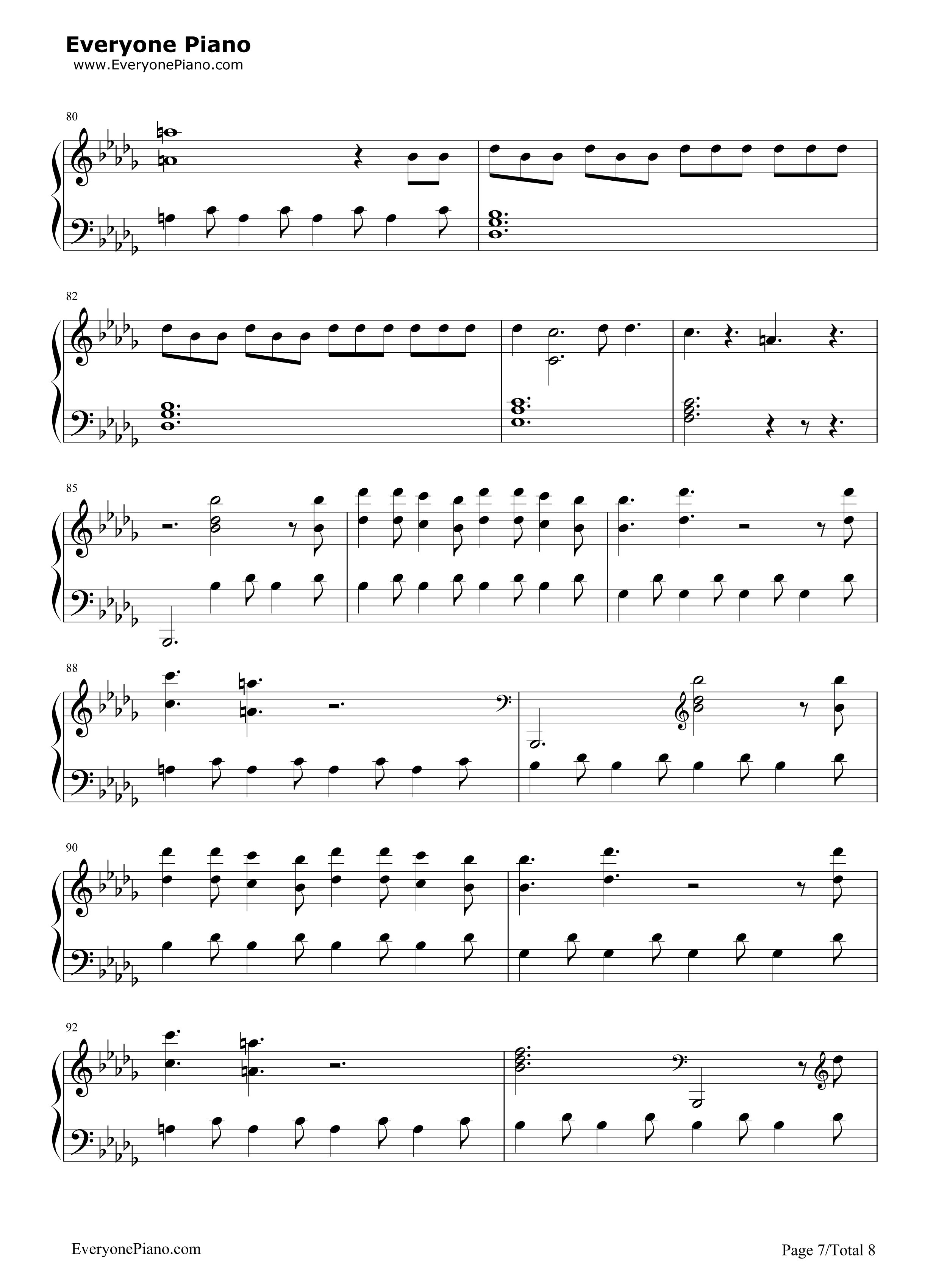 Believer imagine dragons stave preview 7 free piano sheet music listen now print sheet believer imagine dragons stave preview 7 hexwebz Gallery