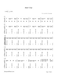 HandClap-Fitz and The Tantrums-Numbered-Musical-Notation-Preview-1