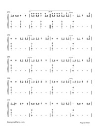 HandClap-Fitz and The Tantrums-Numbered-Musical-Notation-Preview-2