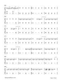 That's What I Like-Bruno Mars Numbered Musical Notation Preview 2