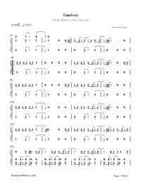 Symphony-Clean Bandit,Zara Larsson両手略譜プレビュー1